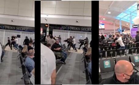 Bătaie între români pe aeroport: Și-au dat cu trolerele în cap și și-au împărțit pumni. Totul a fost filmat