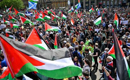 """VIDEO. Manifestaţii pro-palestiniene în mai multe mari orașe ale lumii. Mii de persoane cer """"eliberarea Palestinei\"""
