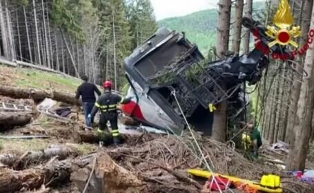 Acțiunea de salvare în accidentul de telecabină cu 14 morți, în Italia. Mărturia primarului