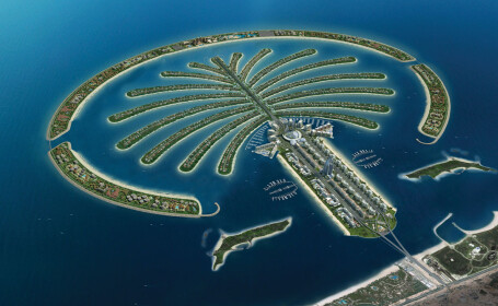 Insula in forma de palmier din Dubai
