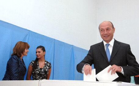 Traian Basescu la alegeri
