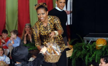 Barack si Michelle Obama de Halloween
