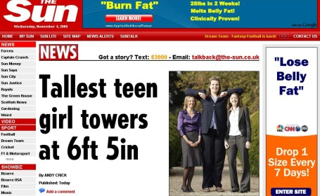 Cea mai mare adolescenta din lume! Are 1,98 metri!