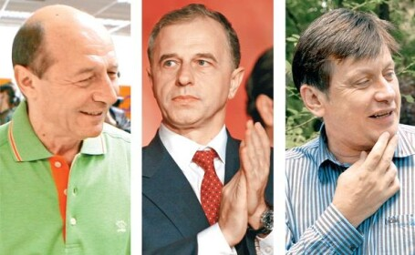 Traian Basescu, Mircea Geoana si Crin Antonescu