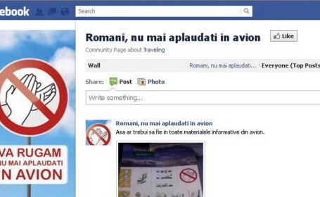 Aplauze in avion FACEBOOK