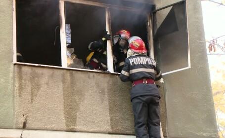 pompieri la incendiu, timisoara