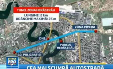 Un km din autostrada suspendata promisa de Oprescu ar costa 70 mil €. E justificata investitia?
