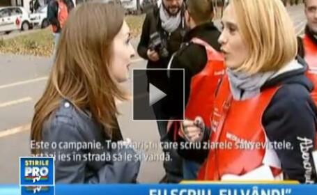 Jurnalistii au iesit in strada. Cum a decurs compania \