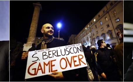 Silvio Berlusconi a DEMISIONAT in huiduielile a mii de italieni. Cine e \