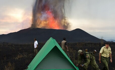 vulcan in eruptie Congo