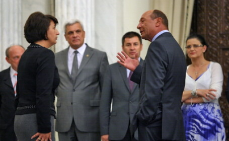 Traian Basescu si lideri ai PDL