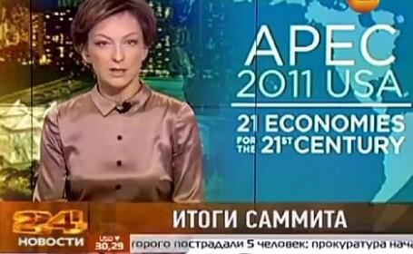 prezentatore TV in Rusia