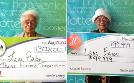 La 91 de ani a castigat la loterie, de 2 ori in doar cateva luni. Cati bani are si ce va face cu ei