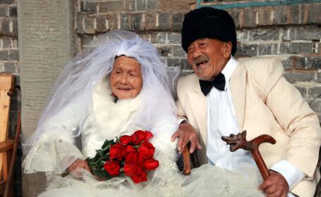 Galerie FOTO. Albumul de nunta realizat dupa 88 de ani de la casatorie. O poveste de dragoste unica