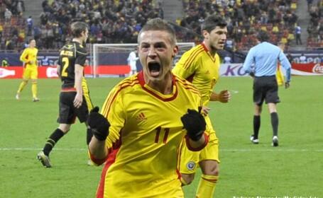 Romania invinge Belgia cu 2-1 intr-un meci amical.Golurile \