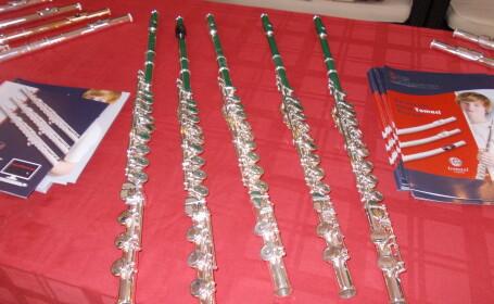 Expozitie de flaute la Filarmonica Banatul. Zeci de instrumente muzicale, testate de timisoreni