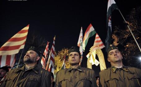 Simpatizanti ai partidului Jobbik