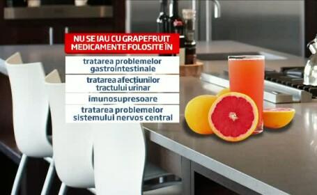 Avertismentul unui cercetator: Sucul de grapefruit poate fi fatal in combinatie cu 90 de medicamente