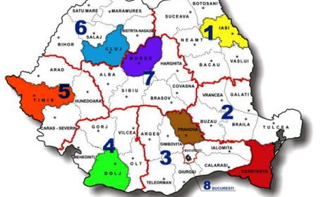 Cum va arata harta regionalizata a noilor directii de sanatate publica din Romania, propusa de MS