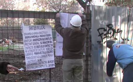 Scandal cu preoti si politisti in Capitala, dupa ce constructia unei biserici va distruge un parc