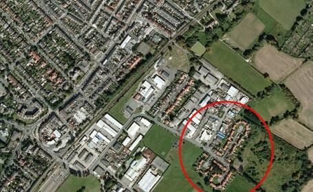 Cum arata un cartier din Anglia, privit cu ajutorul Google Earth. \