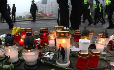 Doliu national in Letonia, dupa catastrofa supermaketului din Riga. Bilantul a ajuns la 52 de morti