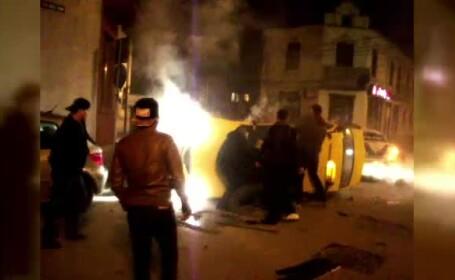 Doua persoane ranite grav in urma unui accident provocat de un campion la lupte, in Constanta