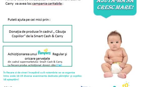 Ajuta-i pe bebelusii de la Spitalul Louis Turcanu! Prin cumpararea unui Pampers, le donezi 2 lei