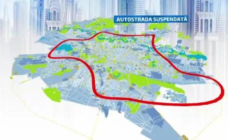 Planul pentru autostrada suspendata. Cat de realist este cel mai scump proiect din istoria Capitalei