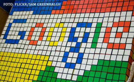 Google scris din cubulete Rubik