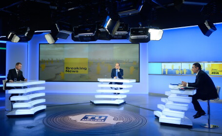 Klaus Iohannis, Victor Ponta in dezbaterea TV