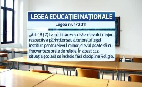 Decizia CCR de a lasa religia in scoli doar pe semnatura naste un scandal. Reactii: de la \