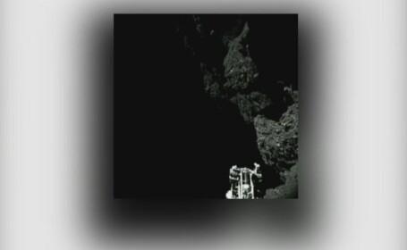 Selfie la 500 de milioane de kilometri departare de Terra. Robotul Philae, poza pe cometa Rosetta