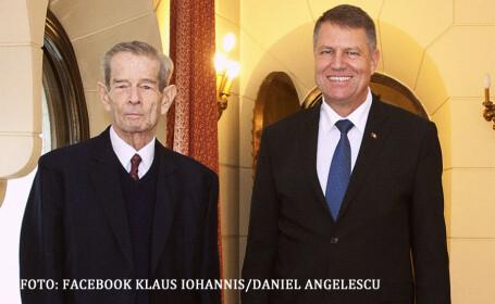 regele Mihai si Klaus Iohannis