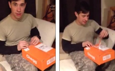 Filmarea cu reactia unui barbat la surpriza facuta de sotia lui a ajuns un viral pe internet. Ce gaseste in cutie. VIDEO