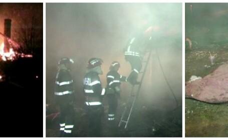 O femeie si baietelul ei de 3 ani au ars de vii in casa, in Suceava. Pompieri: Femeia a incercat sa-si protejeze copilul