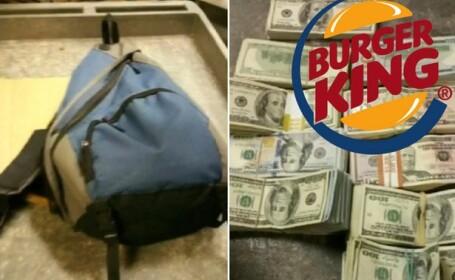 Un rucsac cu 100.000 de dolari a fost gasit si predat politiei de un angajat Burger King din Statele Unite