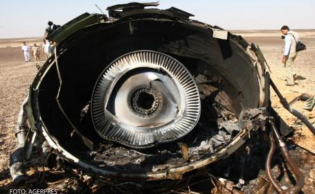 resturile avionului rusesc prabusit in Egipt