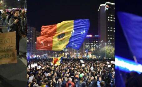 Filmul unei seri in care Romania a rabufnit si a iesit in strada: \