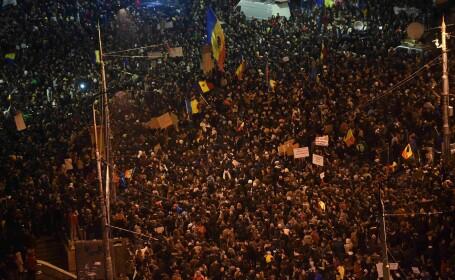 Filmul protestelor uriase din Capitala si din tara. \