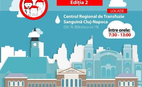 """""""Donam impreuna! UBB da startul"""". Sub acest slogan incepe a doua campanie de donare de sange"""