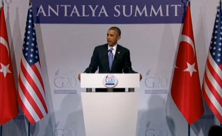 Barack Obama la summitul G20