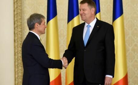 Dacian Ciolos si Klaus Iohannis
