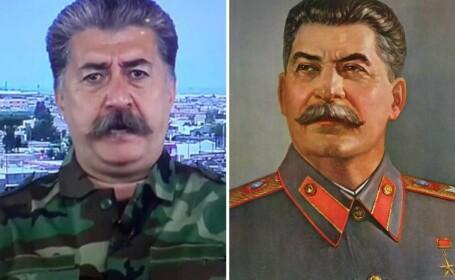 Liderul militar kurd care seamana izbitor cu Stalin: \