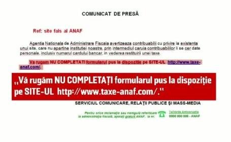 ANAF, avertisment