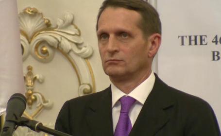 Presedintele Dumei de Stat din Rusia, despre avionul doborat de turci: \