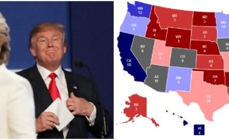 Cursa pentru Casa Alba. Harta colegiilor electorale cu o saptamana inainte de alegeri si care sunt statele cheie
