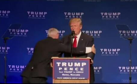 Donald Trump, evacuat de Secret Service