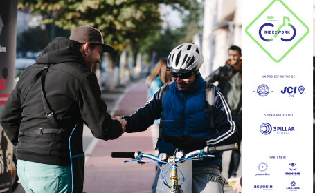 Clujenii, invitați sa mearga cu bicicleta la serviciu si in sezonul rece