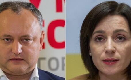 REZULTATE ALEGERI R.MOLDOVA. Moldovenii au decis: pro-rusul Igor Dodon e noul presedinte. Maia Sandu - 47%, Igor Dodon - 52%
